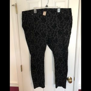 Like New! Faded Glory sueded jeggings size 3x